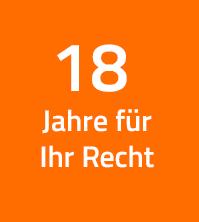 15 Jahre für Ihr Recht